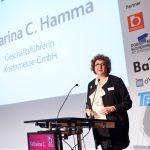 """Thementag """"zukunft in arbeit"""" - DGB Bildungswerk NRW, Eröffnung durch Frau Katharina C. Hamma (Geschäftsführerin koelnmesse), Rheinsaal, Congress-Centrum Nord"""